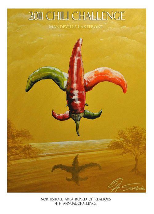 2011 Chili Challenge Poster, Adam Sambola
