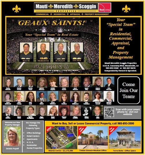 Geaux Saints! Real Living Mauti Meredith Scoggin Real Estate