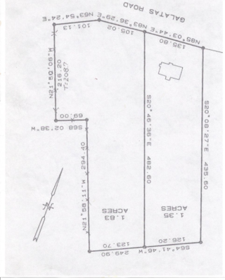 1.83 acres Galatas Rd, Madisonville, LA - survey